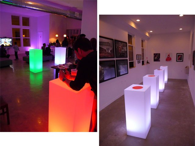 Fresno Illuminated Cocktail Tables
