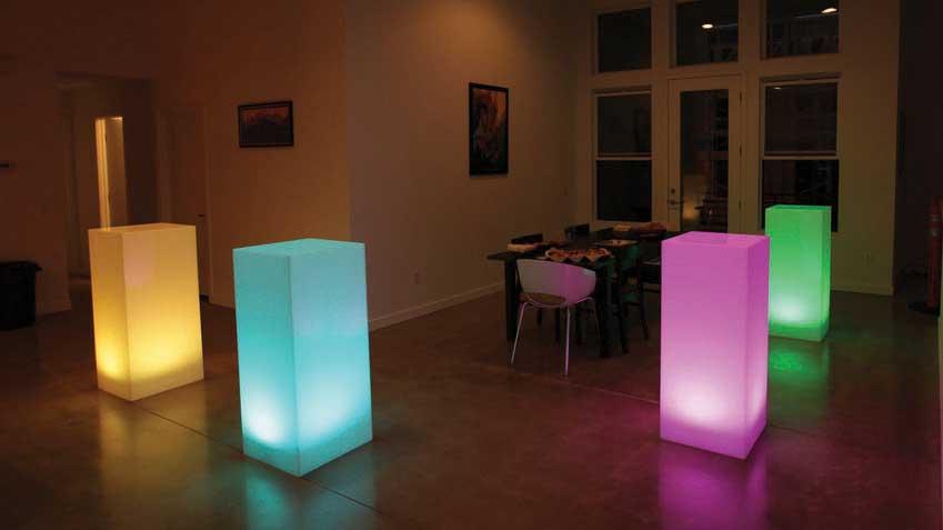 Fresno Illuminated cocktail tables